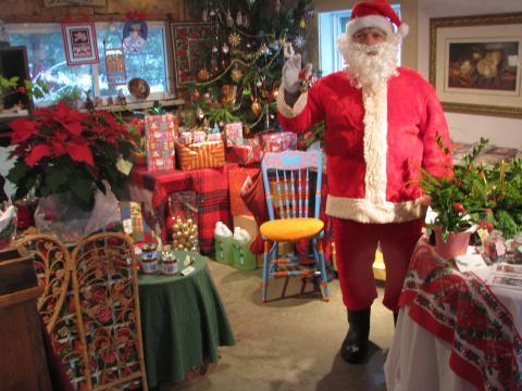 santa in the shop