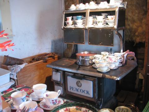 hot wassail punch & teacups